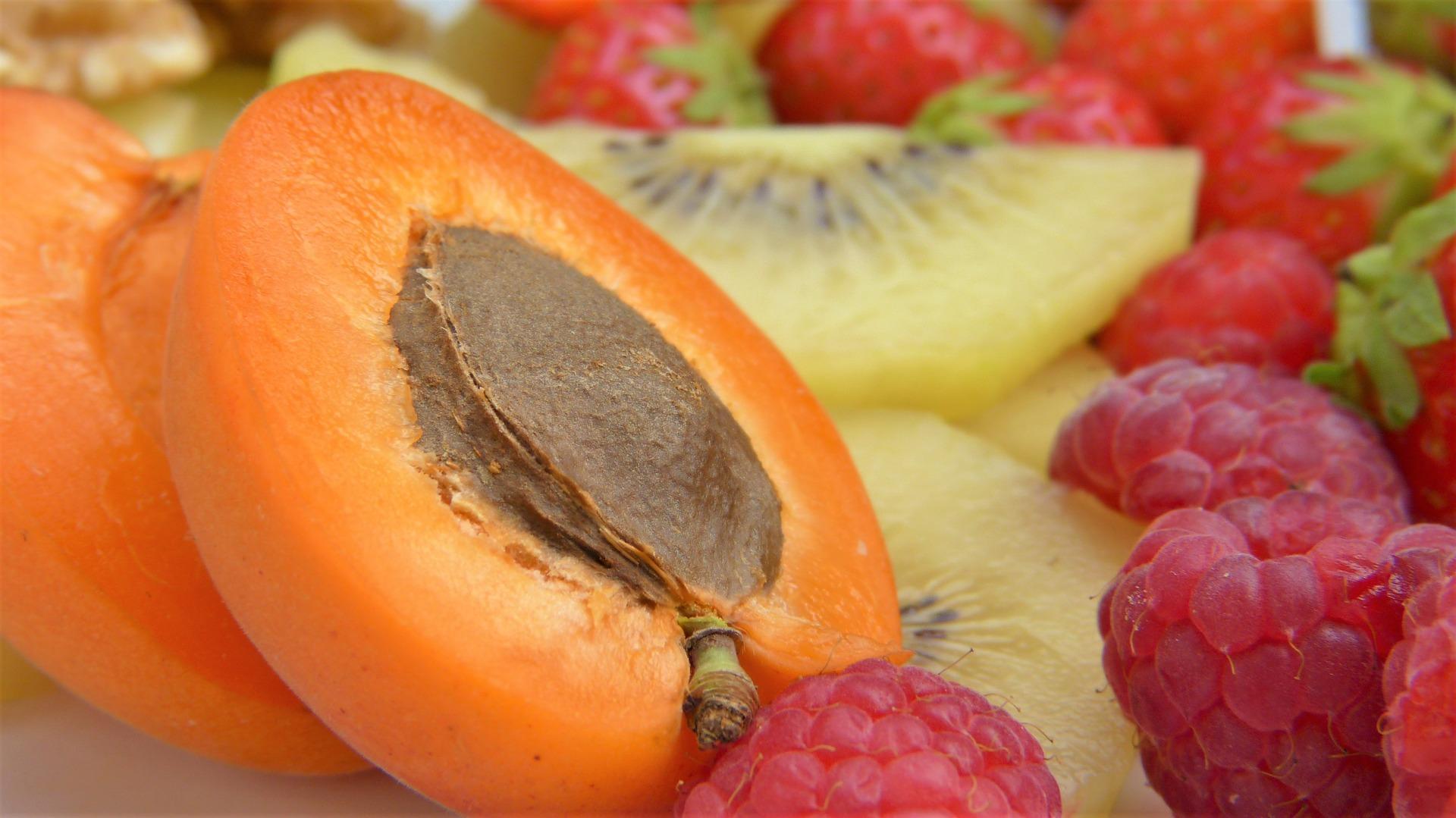 Aprikosen Himbeeren